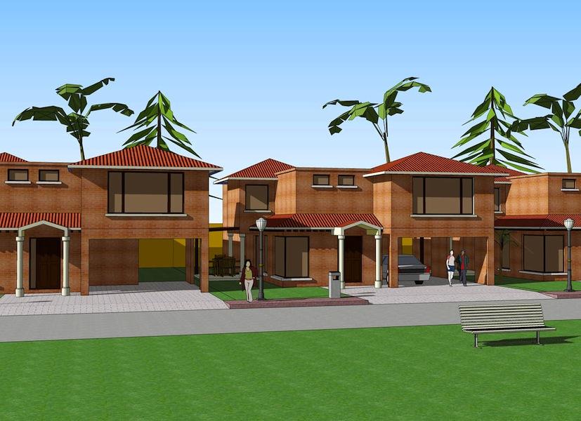 Proyecto 8 casas axis axis - Precio proyecto casa 120 m2 ...